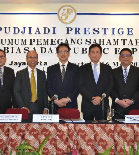 Rapat Umum Pemegang Saham Tahunan PT. Pudjiadi Prestige, Tbk. 2019